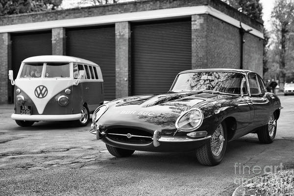 Photograph - 1965 Jaguar E Type At Bicester Heritage Oxfordshire by Tim Gainey