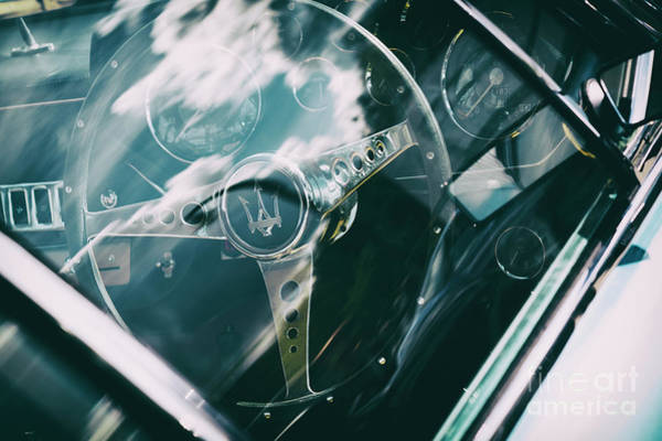 Photograph - 1965 Maserati Steering Wheel by Tim Gainey