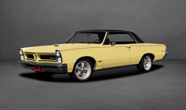 Wall Art - Photograph - 1965 Pontiac Gto Coupe  -  1965pontiacgtocoupedblgray196775 by Frank J Benz