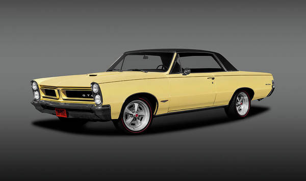 Wall Art - Photograph - 1965 Pontiac Gto Coupe  -  1965pontiacgtohdtpgray196775 by Frank J Benz