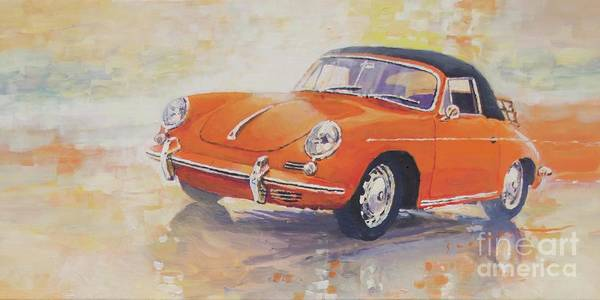 Wall Art - Painting - 1965 Porsche 356 C Cabriolet by Yuriy Shevchuk