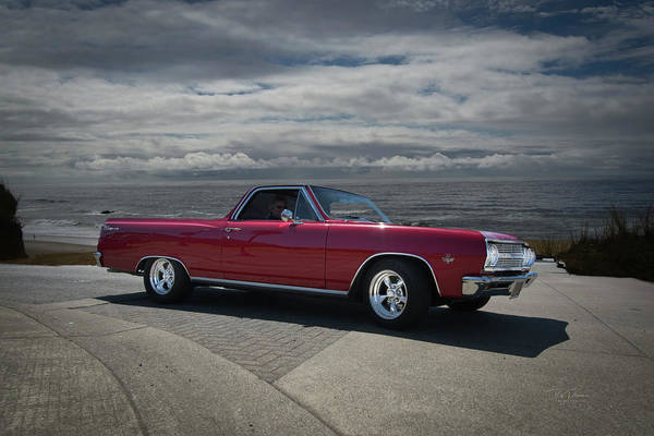 Photograph - 1965 Red El Camino by Bill Posner