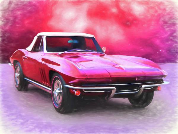 Digital Art - 1965 Red Vette by Rick Wicker