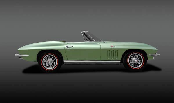 Wall Art - Photograph - 1966 C2 Chevrolet Corvette Stingray  -  66chevycorvettestingraycvgray197073 by Frank J Benz