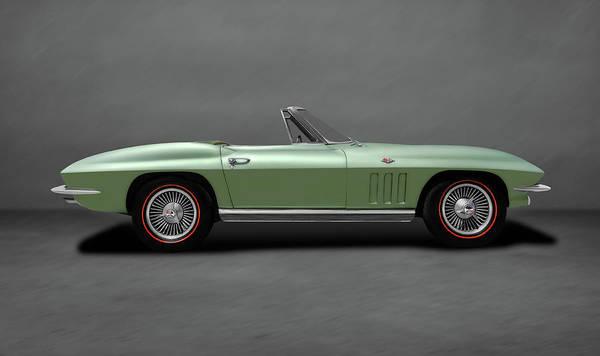 Wall Art - Photograph - 1966 C2 Chevrolet Corvette Stingray  -  66corvettestingrayconvertdblgray197073 by Frank J Benz