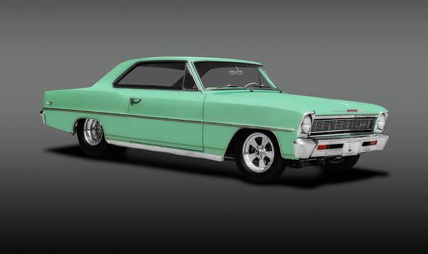 Wall Art - Photograph - 1966 Chevrolet Nova Sport Coupe  -  1966chevynovasportcoupegray197103 by Frank J Benz
