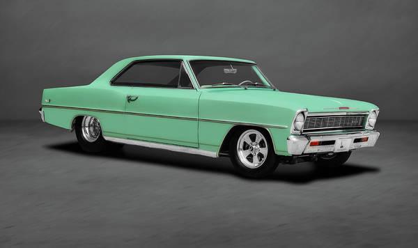 Wall Art - Photograph - 1966 Chevrolet Nova Sport Coupe  -  1966novasportcoupedblgray197103 by Frank J Benz