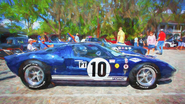 Photograph - 1966 Ford Gt40 Mk 1 208 by Rich Franco