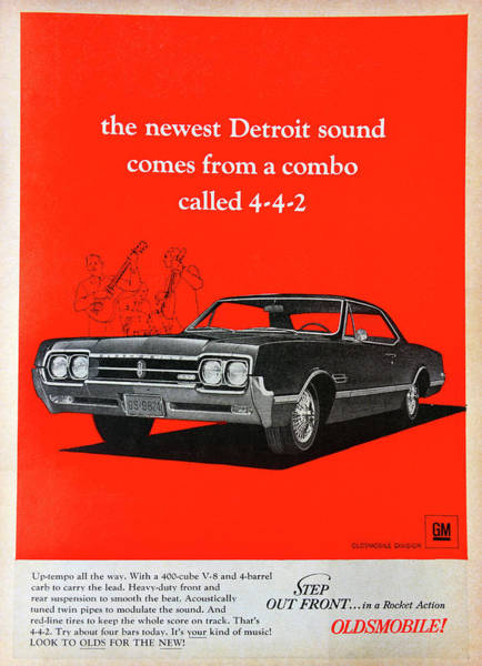 Oldsmobile 442 Photograph - 1966 Olds Add by David Lee Thompson
