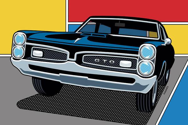 Wall Art - Digital Art - 1967 Pontiac Gto by Ron Magnes
