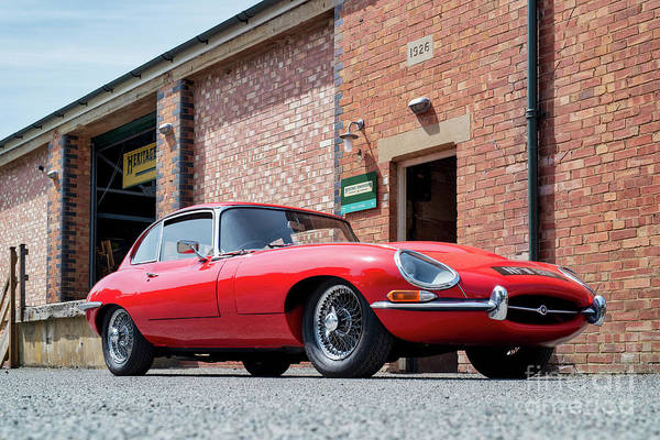 Photograph - 1967 Red E Type Jaguar by Tim Gainey