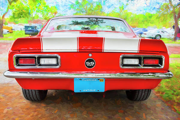 Photograph - 1968 Chevrolet Camaro 350 Ss 005 by Rich Franco