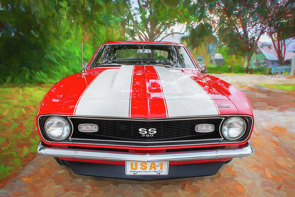 Photograph - 1968 Chevrolet Camaro 350 Ss 010 by Rich Franco