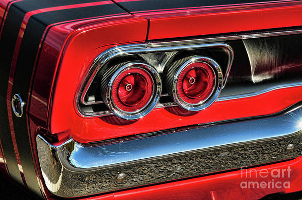 Wall Art - Photograph - 1968 Dodge Charger Rt Tail Lights by Paul Ward