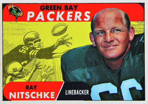 Wall Art - Photograph - 1968 Topps Ray Nitschke Card by David Lee Thompson