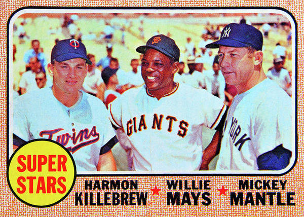 Wall Art - Photograph - 1968 Topps Super Stars Card by David Lee Thompson