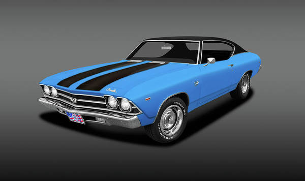Wall Art - Photograph - 1969 Chevrolet Chevelle Super Sport Ss-396  -  1969chevroletchevelless396cpefa142249 by Frank J Benz
