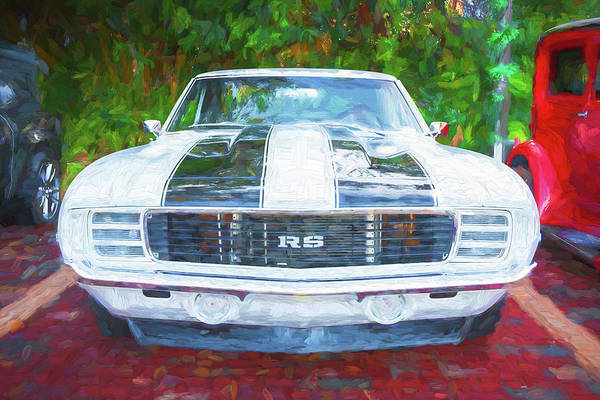 Photograph - 1969 Chevy Camaro Rs Ss 454 004 by Rich Franco