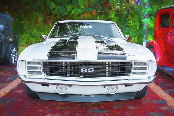 Photograph - 1969 Chevy Camaro Rs Ss 454 005 by Rich Franco