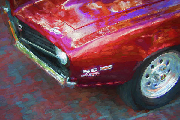 Wall Art - Photograph - 1969 Chevyrolet Camaro Ss 427  X101 by Rich Franco