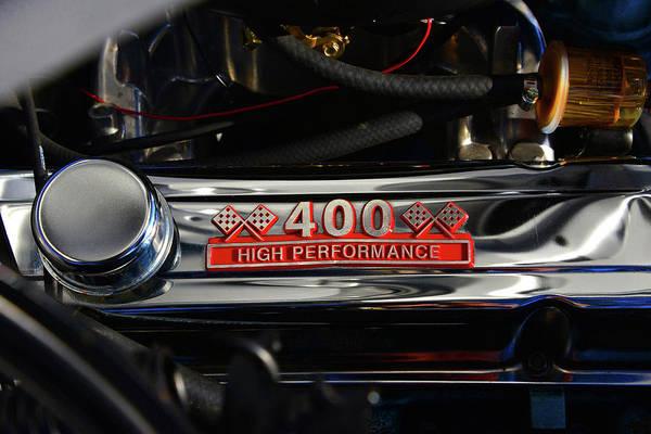 1969 Pontiac Firebird Photograph - 1969 Firebird 400 Engine by David Lee Thompson