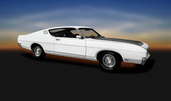 Wall Art - Photograph - 1969 Ford Torino Talladega  -  1969fordtorinotalladaga196701 by Frank J Benz