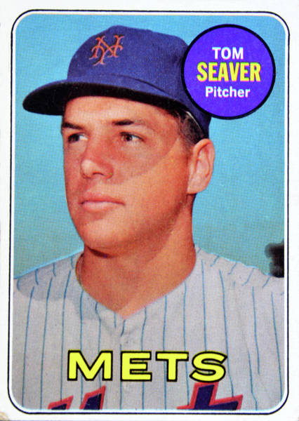 Wall Art - Photograph - 1969 Tom Seaver Topps Card by David Lee Thompson