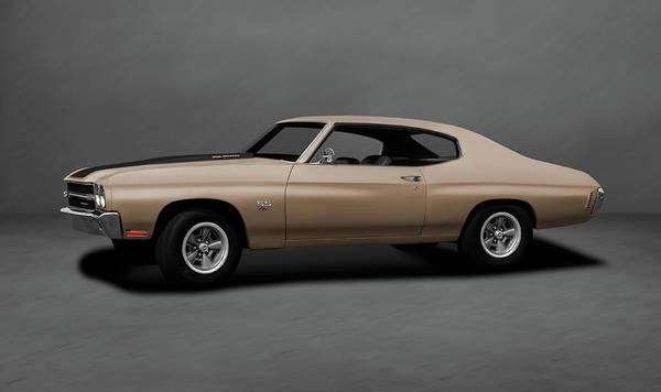 Wall Art - Photograph - 1970 Chevrolet Chevelle Ss 454  -  1970chevyshevelless454dblgray196911 by Frank J Benz