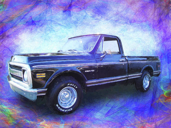 Digital Art - 1970 Chevy C10 Pickup Truck by Rick Wicker