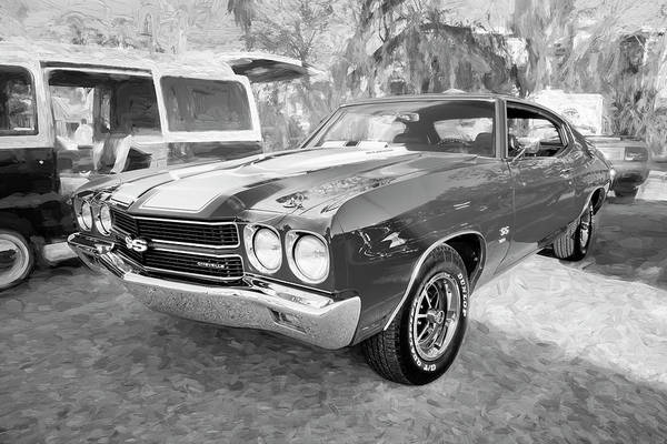 Wall Art - Photograph - 1970 Chevy Chevelle 396 Ss Bw 100 by Rich Franco