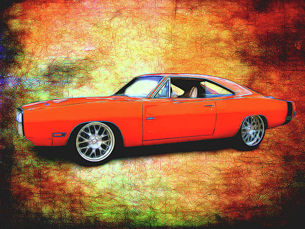 Digital Art - 1970 Dodge Charger by Rick Wicker