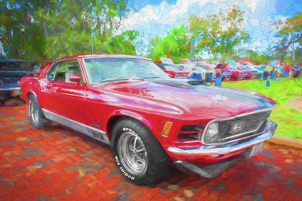 Photograph - 1970 Ford Mustang Mach 1 201   by Rich Franco
