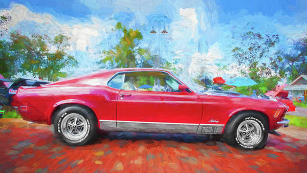 Wall Art - Photograph - 1970 Ford Mustang Mach 1 205  by Rich Franco