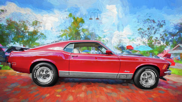 Wall Art - Photograph - 1970 Ford Mustang Mach 1 206 by Rich Franco