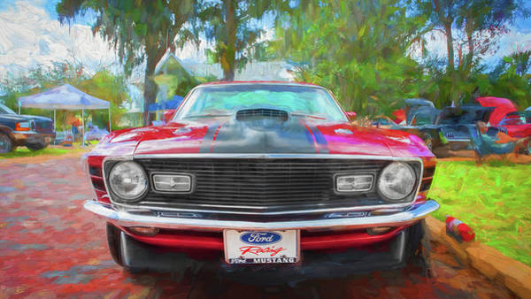 Photograph - 1970 Ford Mustang Mach 1 208 by Rich Franco