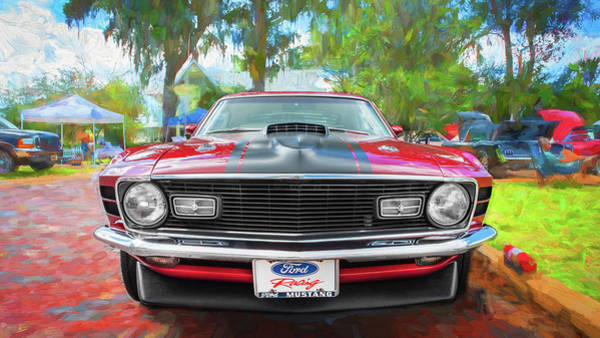 Wall Art - Photograph - 1970 Ford Mustang Mach 1 209 by Rich Franco