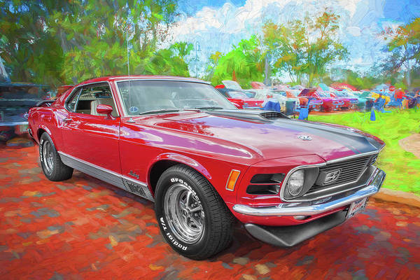 Photograph - 1970 Ford Mustang Mach 1 Painted 202  by Rich Franco