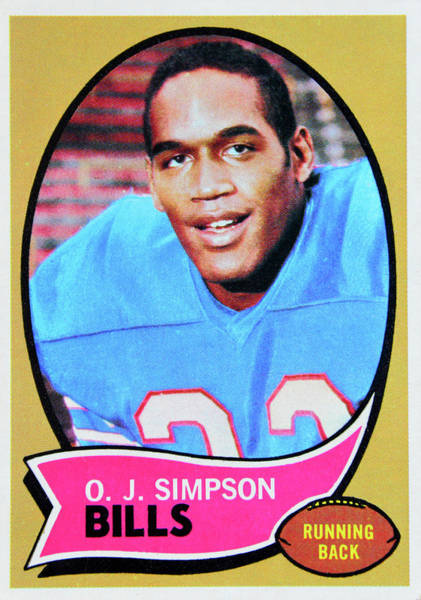 Wall Art - Photograph - 1970 O.j. Simpson Topps Rookie Card by David Lee Thompson