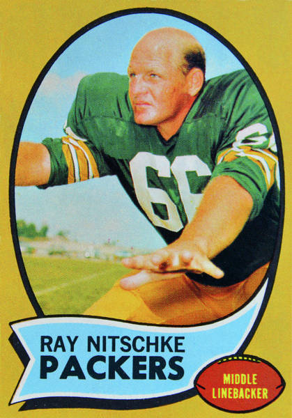 Wall Art - Photograph - 1970 Ray Nitschke Topps Card by David Lee Thompson