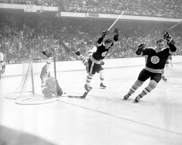 Ice Hockey Photograph - 1970 Stanley Cup Finals - Game 4 St by B Bennett