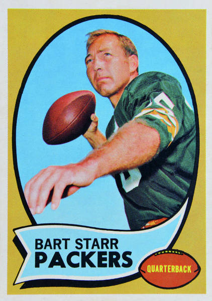 Wall Art - Photograph - 1970 Topps Bart Star Card by David Lee Thompson