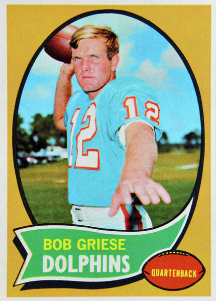 Wall Art - Photograph - 1970 Topps Bob Griese Card by David Lee Thompson