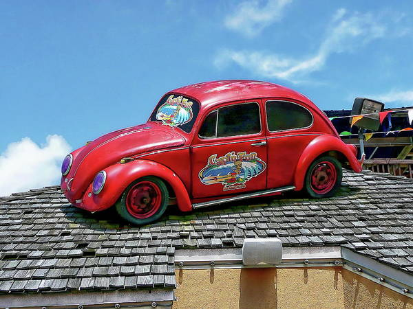 Photograph - 1970s Volkswagen Beetle by Anthony Dezenzio
