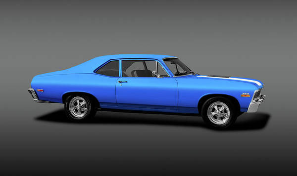 Wall Art - Photograph - 1971 Chevrolet Nova 350 Super Sport Coupe   -  1971chevysupersport350novagray170507 by Frank J Benz