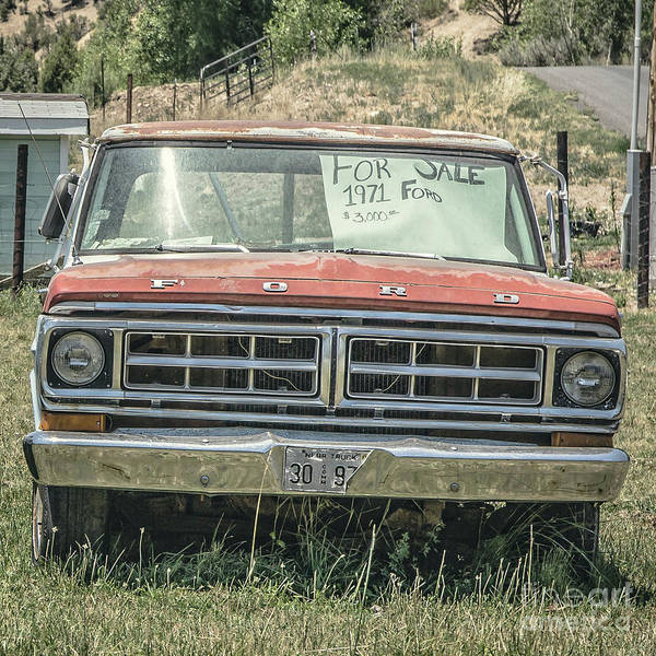Wall Art - Photograph - 1971 Ford Pickup Truck For Sale In Utah by Edward Fielding