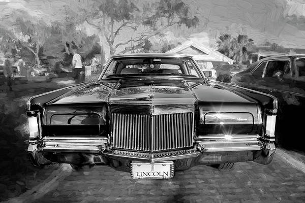 Wall Art - Photograph - 1971 Lincoln Continental Mark IIi Bw 102 by Rich Franco