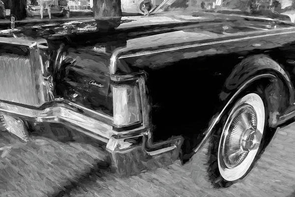 Wall Art - Photograph - 1971 Lincoln Continental Mark IIi Bw 105 by Rich Franco