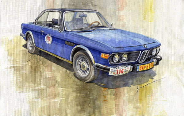 3 Wall Art - Painting - 1972 Bmw 3.0 Csi Coupe  by Yuriy Shevchuk