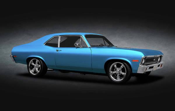 Street Rods Photograph - 1972 Chevrolet Nova Super Sport  -  1972novass383strokerspottexture170749 by Frank J Benz