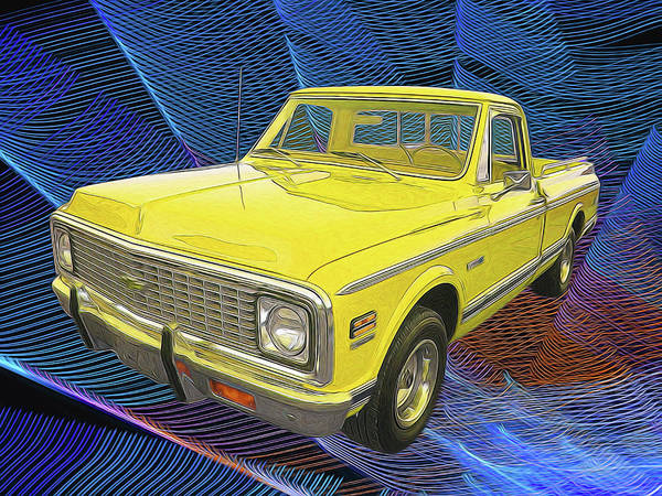 Digital Art - 1972 Chevy Pickup Truck by Rick Wicker